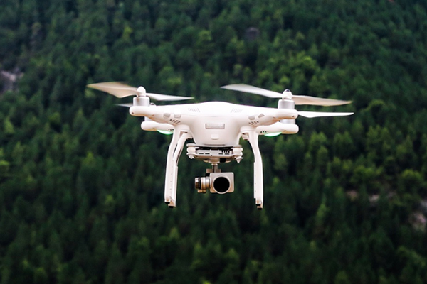 lookout a drone take finished a nearby smart tv